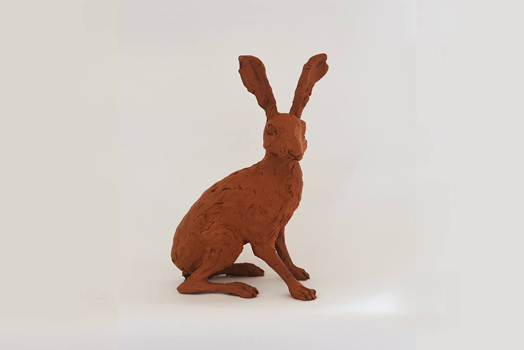 Clay sculpture of a Hare