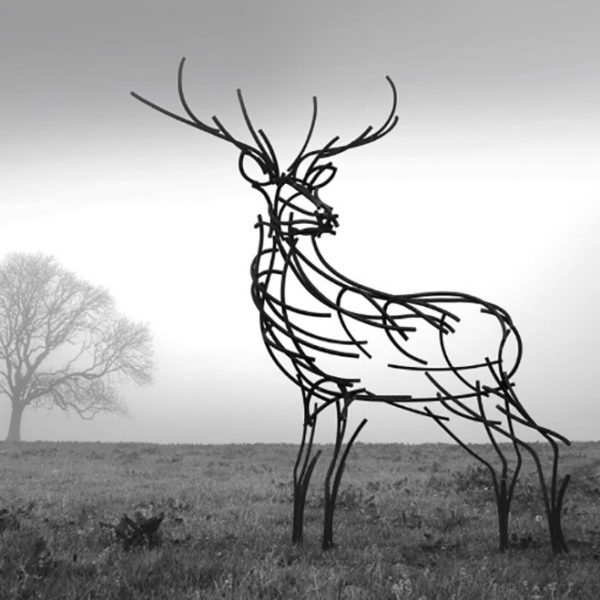 Watchful Stag in the evening mist by Andrew Kay