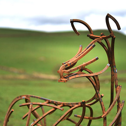 Wildlife Sculpture of Red Deer Hind by Andrew Kay